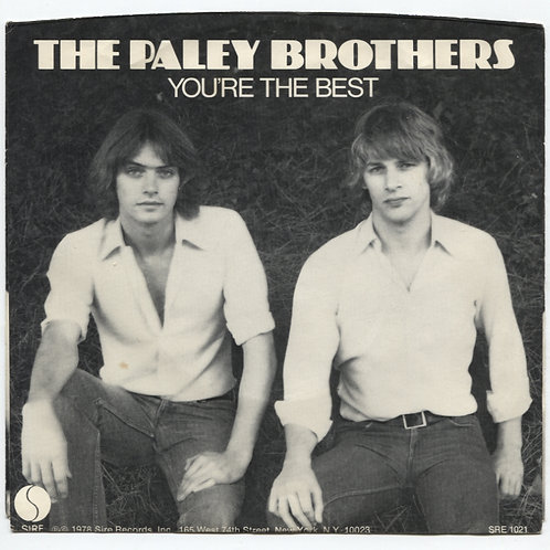 """Paley Brothers: You're The Best 7"""""""