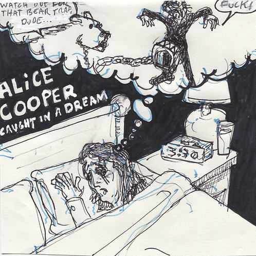 Alice Cooper: Caught In A Dream Record with Original Art
