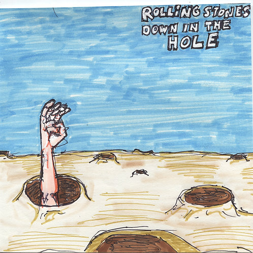 Rolling Stones: Down In The Hole Record with Original Art