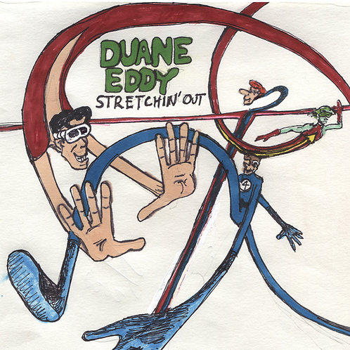 Duane Eddy: Stretchin' Out Record with Original Art