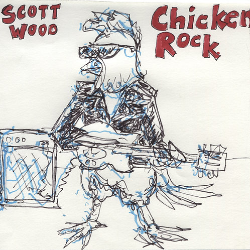 Scott Wood: Chicken Rock Record with Original Art