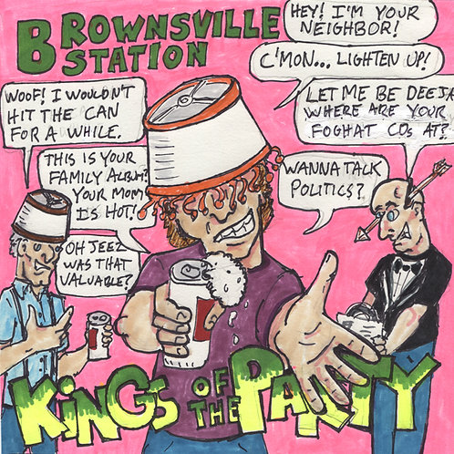 "Bronwsville Station Kings of the Party 7"" Record with Original Art"