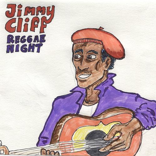 Jimmy Cliff Reggae Night Record with Original Art