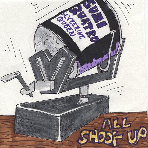Suzi Quatro: All Shook Up Record with Original Art