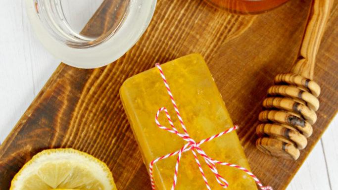 Honey And Lemon Soap Bar