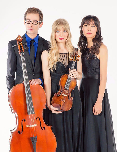 Saguaro Piano Trio Peter Myers cello Luanne Homzy violin Ellen Hwangbo piano