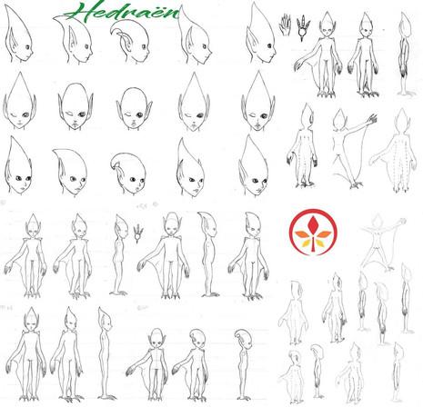 Hedraën - chara design