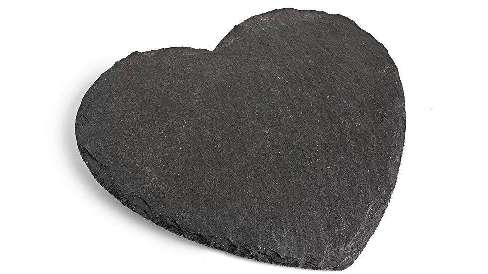 Large heart slate cheese board