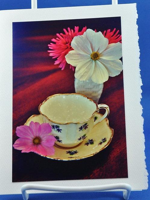 Delicate cup and petals - SpecialTea Cards