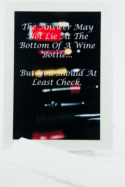 Booze Tales - Answer at the bottom of a bottle