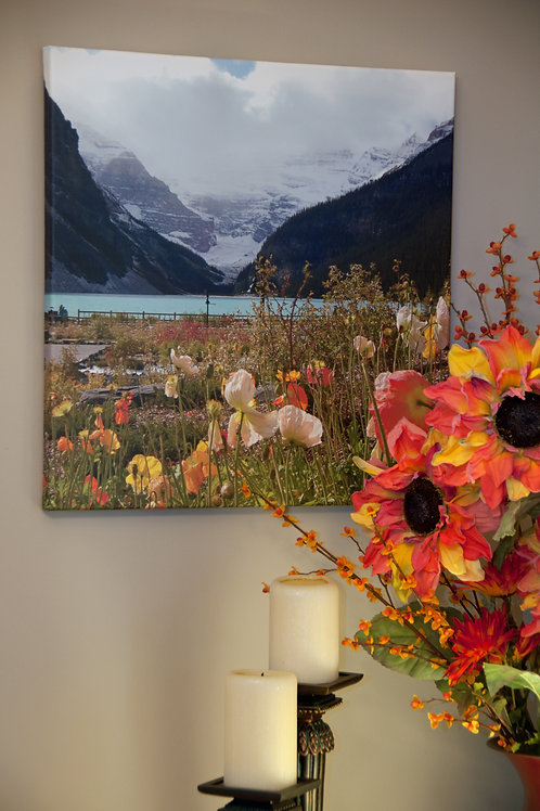 Rockies and Poppies Canvas Art Print
