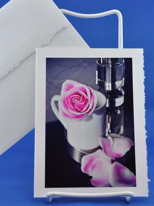 Pink Rose in Mug