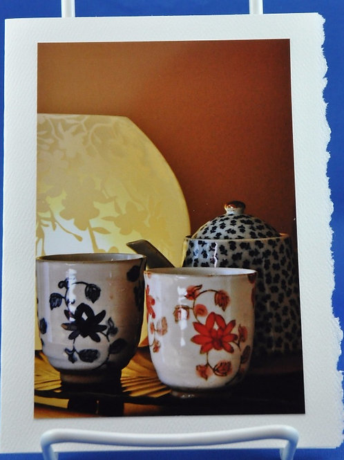 Japanese cups and pot - SpecialTea Cards