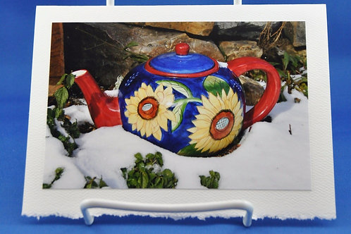 Teapot in the snow - SpecialTea Cards