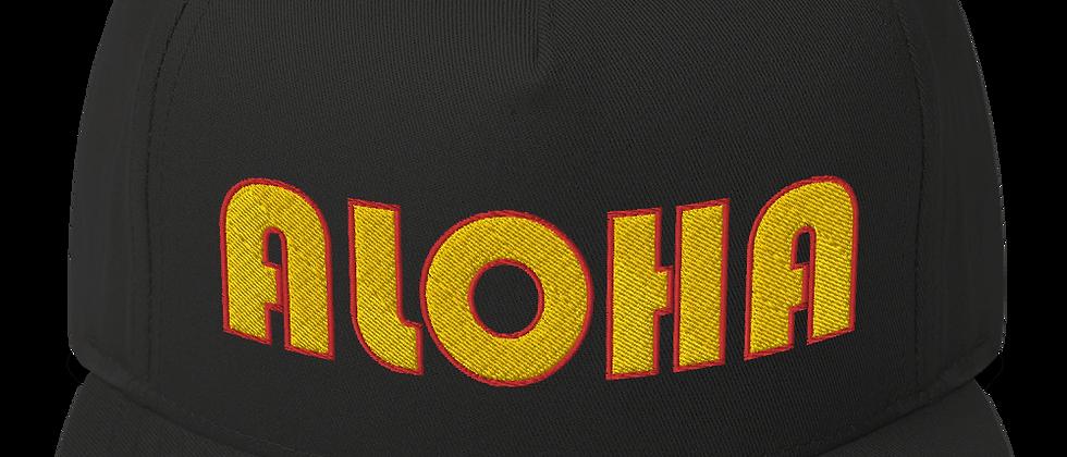 """""""Aloha WolfPak"""" Flat Bill Cap"""