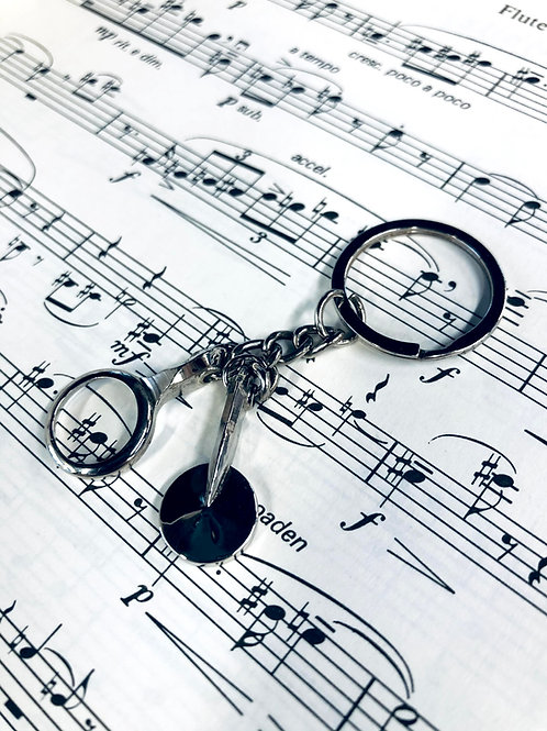 Clarinet Key Keychain