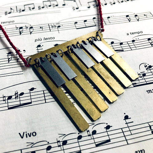 Xylophone/Piano-inspired Necklace