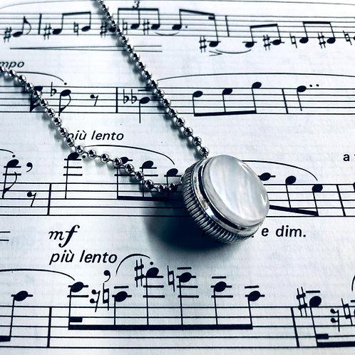 Trumpet Finger Button Necklace