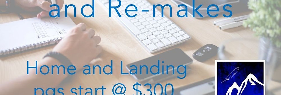 Website Home & Landing Pages ea.