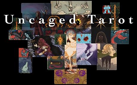 A collage of tarot art