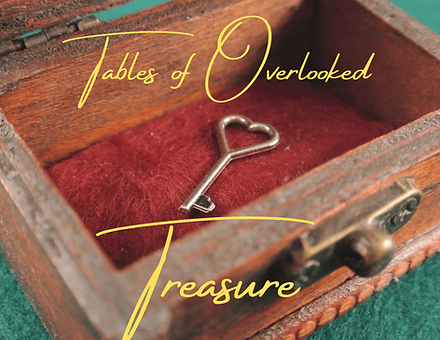 Tables of Overlooked Treasure Cover Comp