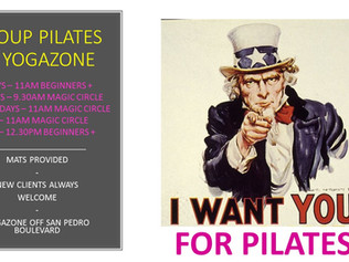 NEW PILATES GROUP CLASS EVERY WEDNESDAY 11-12NOON