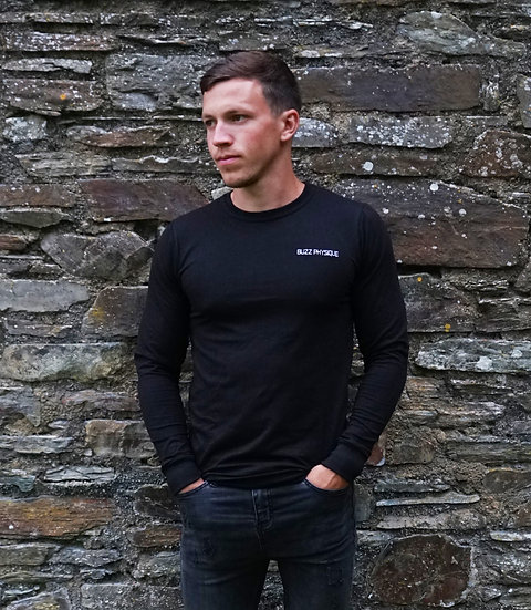 Buzz Physique illusion Long Sleeve T-Shirt - Black