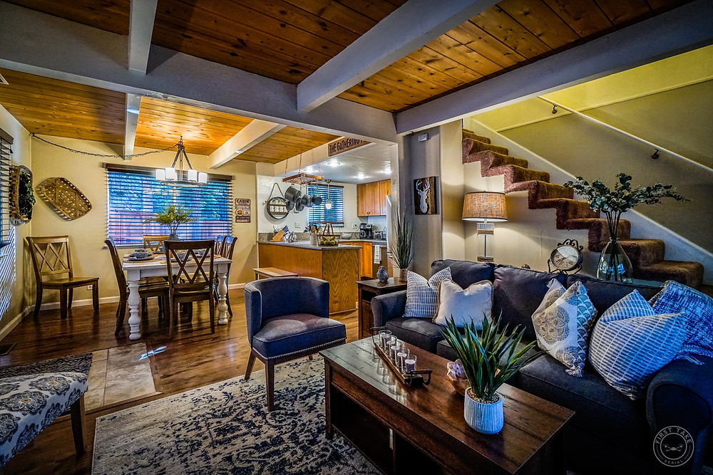 Check out this beautiful vacation spot on Tooch Street in South Lake Tahoe, CA. First Take Aerial also partners with Center Stage and Design, Reno's best home staging company, to bring our clients the complete package! This Airbnb was already booked for several weekends within 2 days of being listed!
