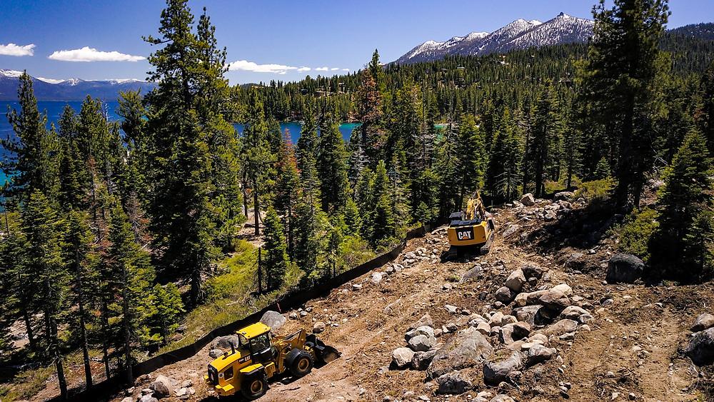 construction, lake tahoe, blue sky
