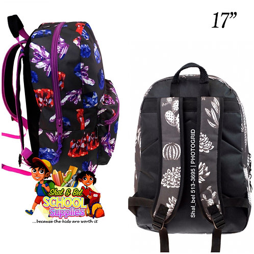 """17"""" print backpack only with headphone hole"""