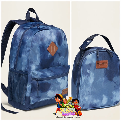 Old navy tie dye backpack set