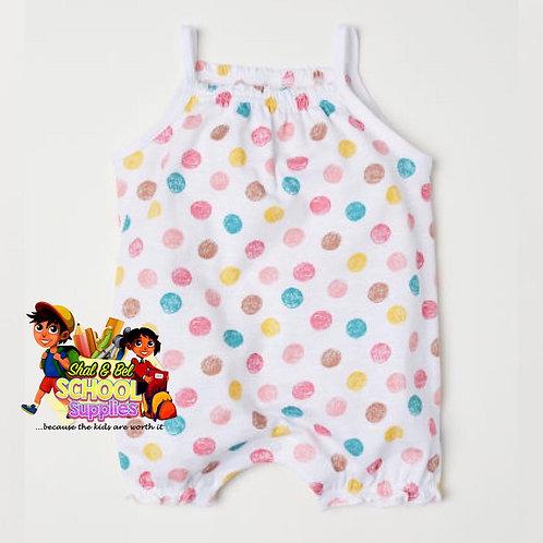Polka dot sleeveless romper (toddler)