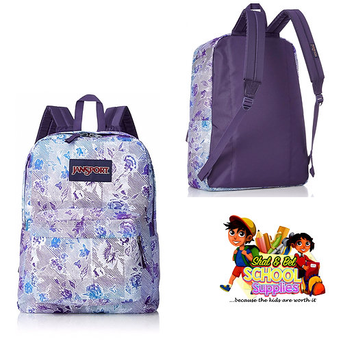 Purple flower bomb jansport backpack