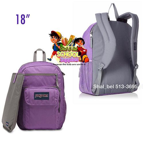 "18"" Purple Jansport with laptop holder"