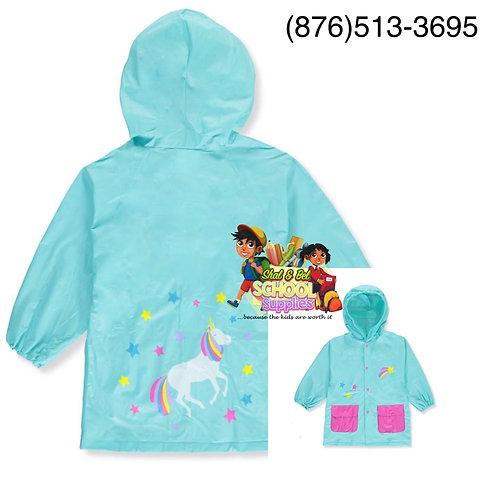 Girls unicorn rain jacket