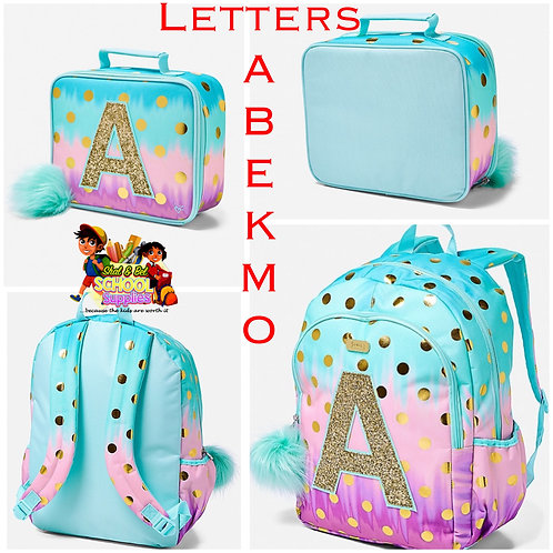 Umbre polka dot backpack w/ lunch bag