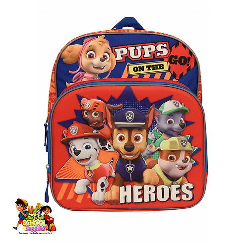 Paw patrol bag and lunch
