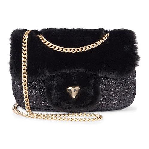 Faux fur bag (black)