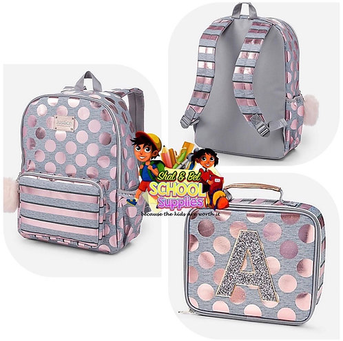 Justice initial backpack set (M, S, T)