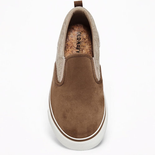 Boys faux suede slip on