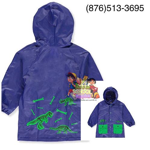 Boys dinosaur rain jacket