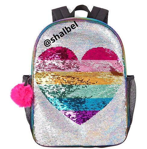 Children Place Heart Sequin backpack