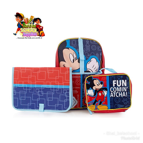 Mickey Mouse 3pc Backpack set