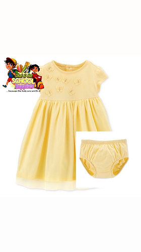 Yellow butterfly dress