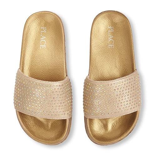 Gold studded slides