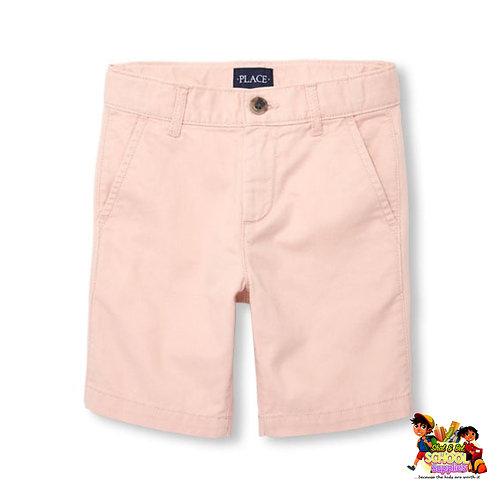 Boys pink chino shorts