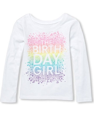 Birthday girl long sleeves top