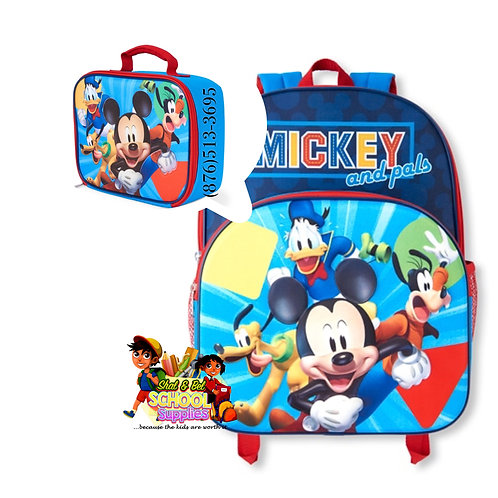 Toddler Mickey set (bag and lunch)