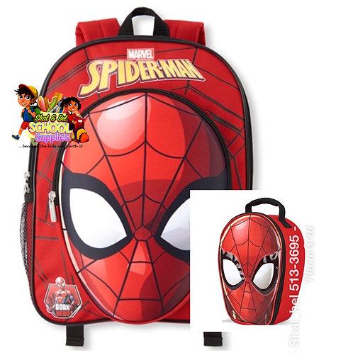 Spider man toddler bag set
