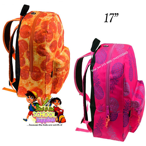 "17"" print backpack only with headphone hole"